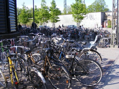 Multitude de vélos a Copenhague