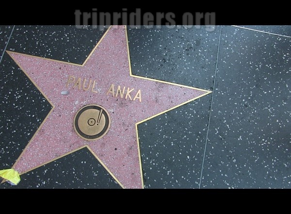 Etoiles d'hollywood Paul Anka