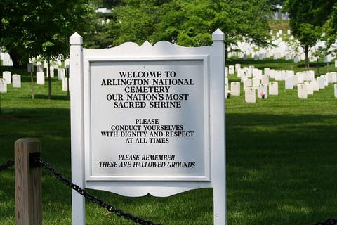 Welcome cemetery to Arlington
